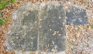 The oldest headstones in the cemetery