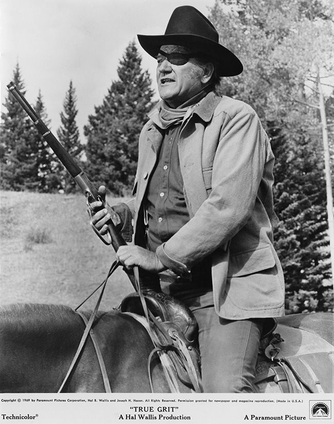 John Wayne starring in True Grit