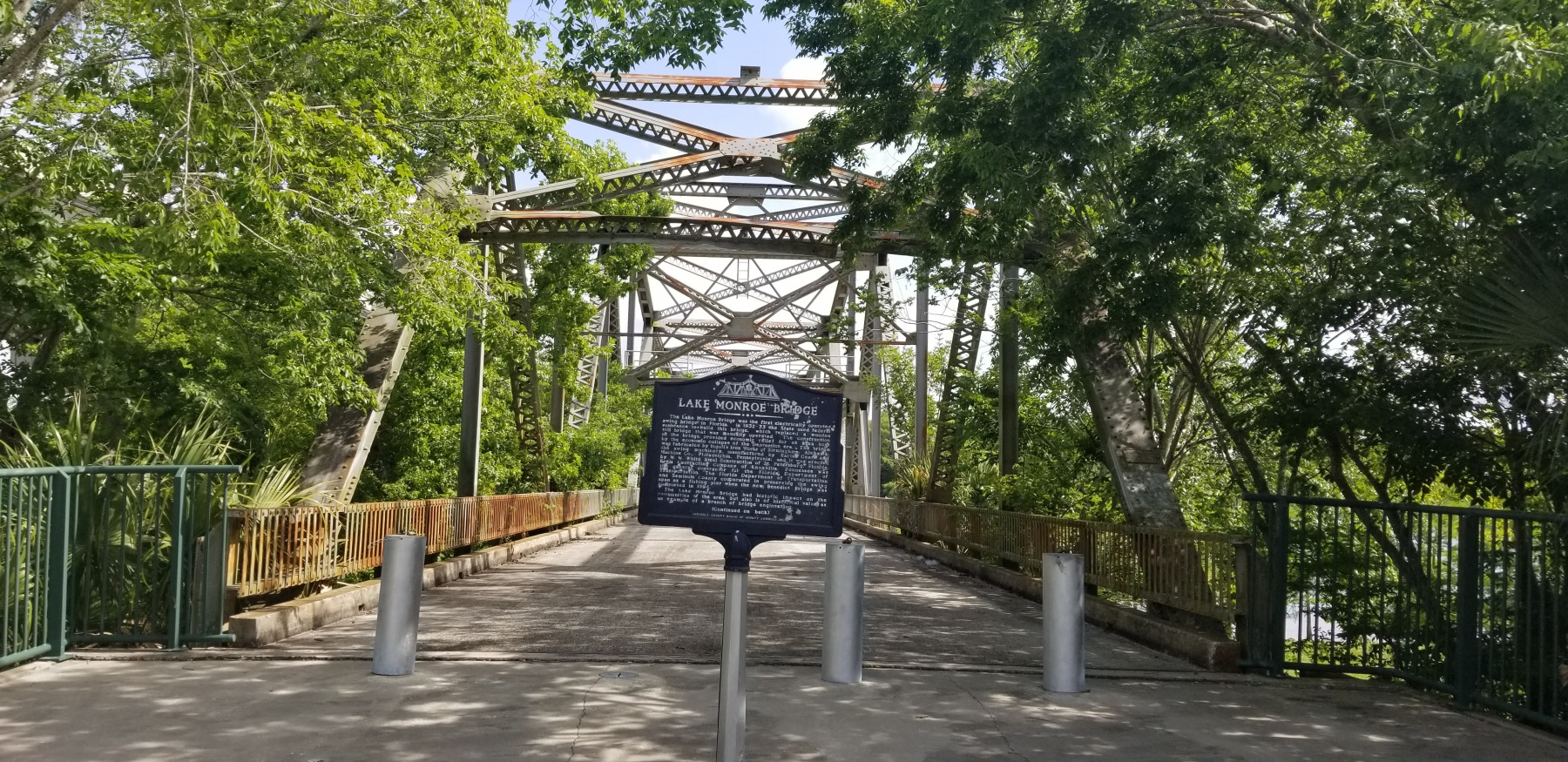 Marker with the bridge in background