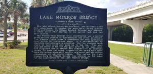 Lake Monroe Bridge marker