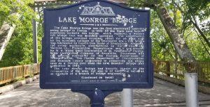 Lake Monroe Historic Marker