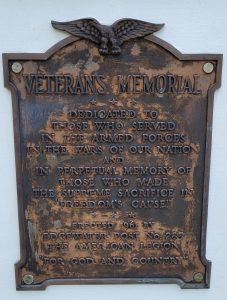 Detail of the 1961 Memorial Plaque